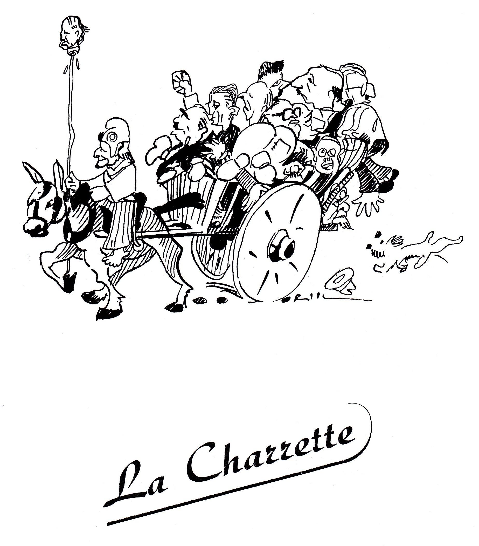L 39 histoire politique par l 39 image - Charrette dessin ...